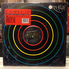 """SEALED 12""""~ALEESE SIMMONS~I Want It~[x4 Mixes/Remixes]~[1989 ORPHEUS Issue]"""