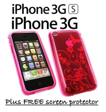 IPHONE 3 3G 3GS PINK FLORAL CASE COVER  GREAT DESIGN GREAT PROTECTION