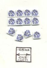 Tiles - Blue Onion Porcelain - miniature 1.791/2 Reutter 1/12 scale 12pcs/pk