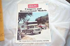 Showroom brochure 71 72 GMC Recreational Vehicles NOS GM Blazer Jimmy K10 20 4X4