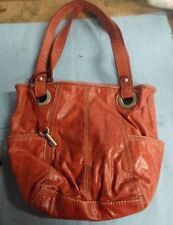 Fossil- Vintage- Red Cinnamon Leather Tote Handbag*BW-A2-1