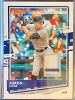 2020 Donruss Materials AARON JUDGE Jersey Patch Pinstripe Relic #DM-AJ Yankees
