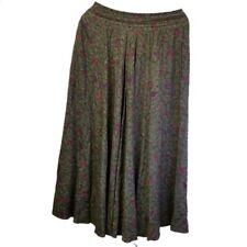 Vintage USA Paisley Maxi gypsy Circle Skirt green