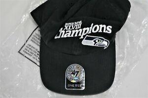 Seattle Seahawks 47 Brand Super Bowl XLVIII NFL Football Team Cap Hat         E1