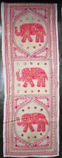 Hippie Pink Elephant Vintage Table Runner Indian Wall Hanging Tapestry Decor Art