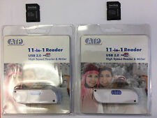 Lot of 2 ATP USB SD Card Reader 2 Sandisk MicroSD to SD SDHC Memory Card Adapter