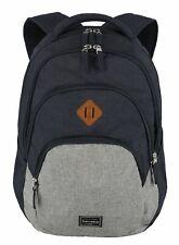 travelite Basic Melange Backpack Rucksack Laptoptasche Tasche Marine / Grey Blau