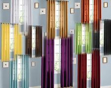 2 Faux Silk Window Panel Curtain Drape Grommet Treatment Drape Nancy 84