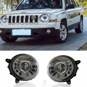 For Jeep Patriot Headlights assembly Double Beam Lens Projector LED DRL 11-15