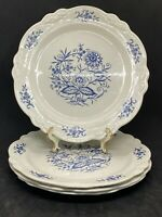 """Set of 4 Bread Plates Imperial Blue Dresden by Sheffield Homer Laughlin 6-1/2"""""""
