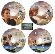 Titanic (3D Blu-ray, 2012) Leonardo DiCaprio Kate Winslett James Cameron