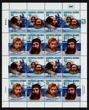 MARSHALL ISLANDS, SCOTT # 936, COMPLETE SHEET OF 16 ARCTIC EXPLORERS YEAR 2009