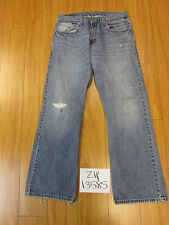 levi 527 low boot cut feathered paint jean tag 32x30 Meas 29x29.5 zip13585