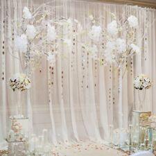 8x8ft Background White Curtain Floral Wedding Photo Backdrop Studio Prop Vinyl
