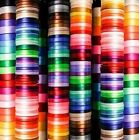 32 metres! Satin Ribbon Full Reel 6mm 12mm 25mm Single Sided 49 colours