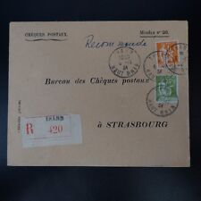 ALSACE LORRAINE LETTRE RECOMMANDE COVER CAD THANN 1934