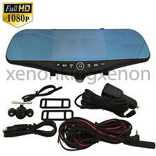 "1080 Full HD 5"" Monitor Blue Tint Rearview Mirror Video Camera Recorder #b16 Car"