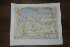 1548 GASTALDI MAP of GERMANY TABULA EUROPA IIII SARMATIA WILD ANIMALS COLOURED!