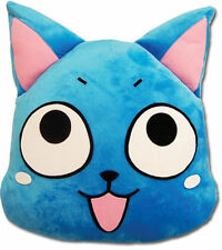 """Brand New Fairy Tail 16"""" Happy Face Cat blue Cushion Pillow hot anime soft"""