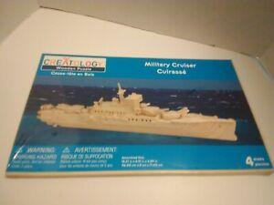 Creatology Military Cruiser Wooden Puzzle Model Kit