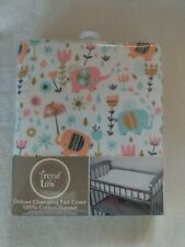 Trend Lab Deluxe 100% Cotton Flannel Changing Pad Cover Wood Multicolor New