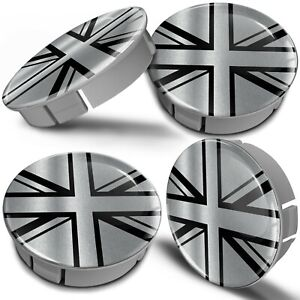 4x 60mm / 55mm Universal Wheel Hub Cover Center Rim Caps Car UK Union Jack Flag