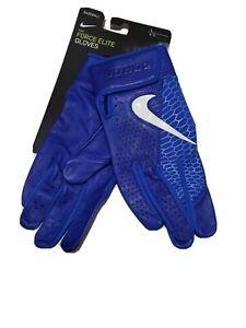 Nike Force Elite Baseball Premium Leather Batting Gloves Adult Unisex Size Large