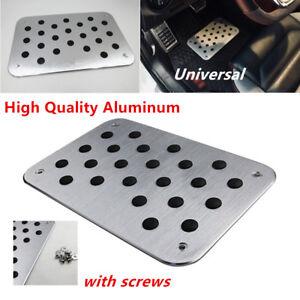 Universal Aluminum Alloy Car Truck Floor Mat Carpet Heel Plate Foot Pedal Rest