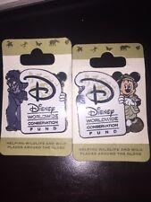 Disney Pin Safari Mickey Terk Worldwide Conservation Fund Animal Kingdom On Card