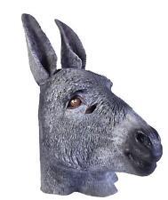 Grey Donkey Full Face Mask Panto Fancy dress Accessory Over Head Animal