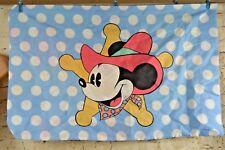 Disney Mickey Mouse Standard Pillow Case Duel Sided Splash Sheriff