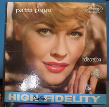 "PATTI PAGE ""Indiscretion"" 12"" Mono Jazz Pop LP"
