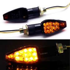 Front Rear Motorcycle Turn Signal Light Indicator Blinker Amber For 2017 Suzuki