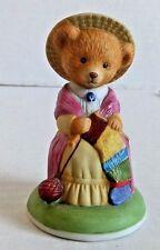 Franklin Mint Priscilla Woolington Bear Porcelain Collectible Figurine Teddy EUC