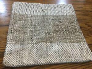 """Pottery Barn Nara Woven Pillow Cover 20"""" sq Natural Multi NEW Neutral Textured"""