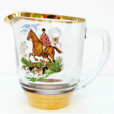 Vidrio Vintage Agua Limonada Ale jarra Caballo Hound