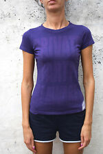 CONVERSE Private party be aware T SHIRT TOP COTTON Authentic PURPLE S SMALL