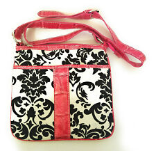 Cheetah Leopard Rhinestone Flower Messenger Bag Crossbody Purse Blue Pink Purple