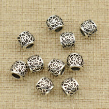 10pcs Dread Lock Dreadlocks Braiding Beads Silver Cuffs Tube Hair Accessories