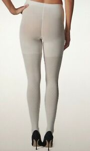 Assets Red Hot Label Spanx Cable Knit Tights Sz 5 Built In Shaper 182B Powder C7