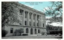 Kimball Nebraska~Bluesky Over Courthouse~Sandwiched by Trees~1946 Postcard pc