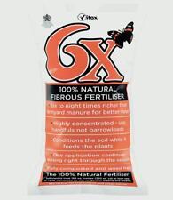 6x 15 Kg Natural Fibrous Fertilizer Traditional Chicken Manure