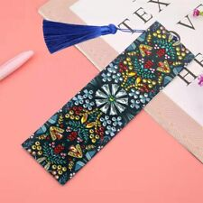 Diamond Painting Leather Bookmark Tassel Embroidery Book Marks Special Shaped