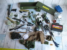 "BULK LOT 12"" GI Joe Military Doll Clothes Gear Weapons Mixed Toy Set Collection"