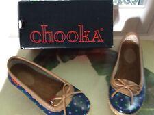 NIB $65 Chooka navy polka-dot rain shoes 10 so cute