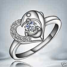 418 Fashion 925 Silver White Sapphire Birthstone Engagement Wedding Ring Size 7