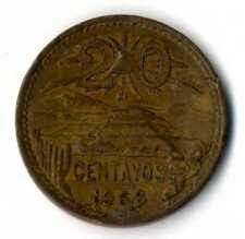 Moneda Mejico Mexico 1968 20 centavos Estados Unidos Mexicanos coins