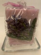 Avon Spring Beauty Candle with Glass Holder Lavender New
