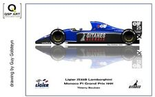 Coffee Mug 1991 Ligier JS35B #25 Thierry Boutsen (BEL) by Guy Golsteyn