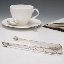 Irish Silver Sugar Tongs c1804